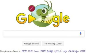 Google Doodle ICC Cricket Trophy Begins
