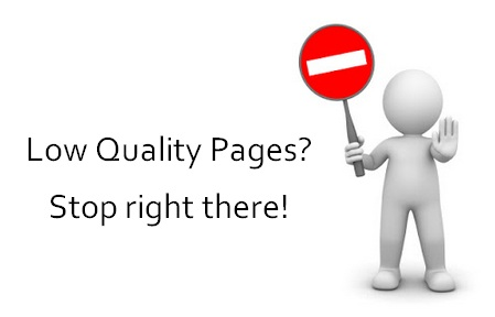 fix low quality pages in seo
